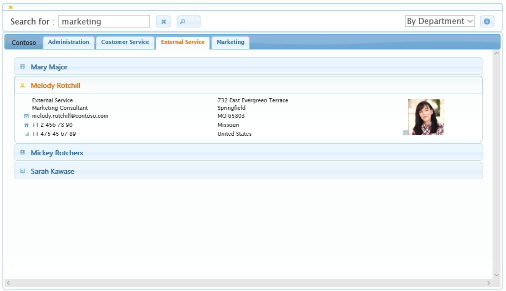 Active Directory Address Book Sample 1