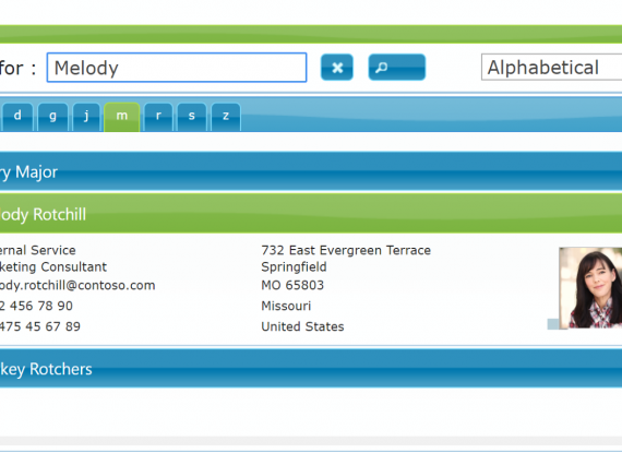 Active Directory Address Book new version
